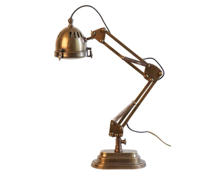 Enjoyable Jaguar Adjustable Desk Lamp Antique Brass Lighting Download Free Architecture Designs Viewormadebymaigaardcom