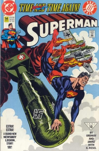 Cover for Superman #54 (April 1991)
