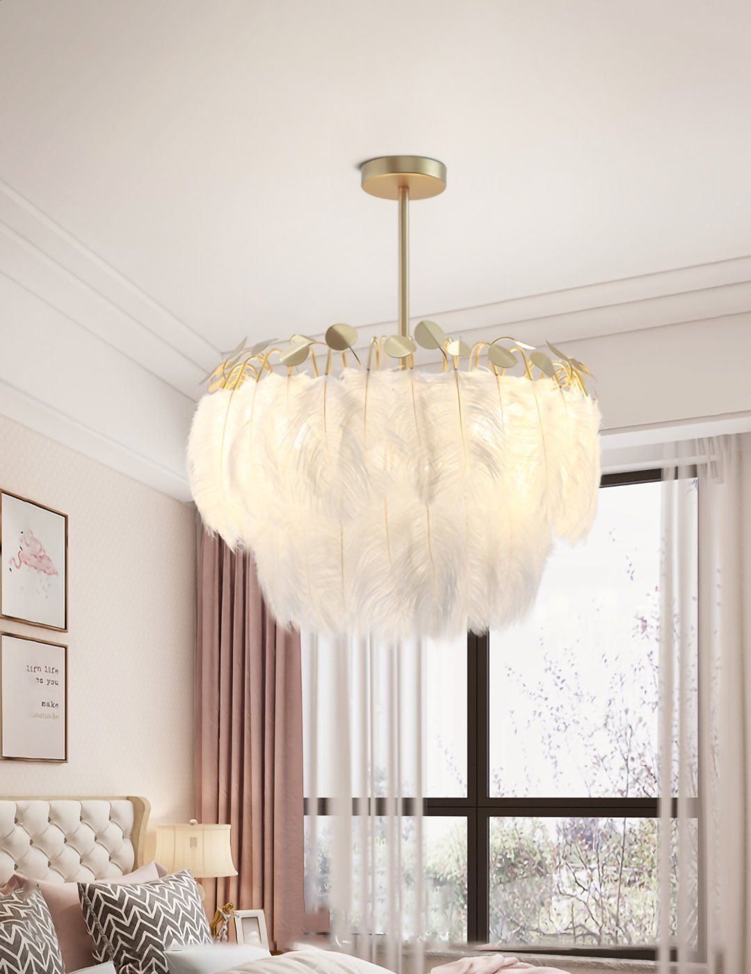Feather Pendant Lamp Mooielight In 2020 Feather Lamp Pendant Lamp Feather Chandelier #rustic #living #room #light #fixtures