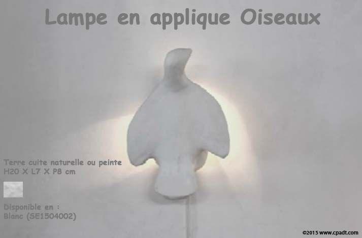 Lampe en applique Oiseaux by #cpadt  www.cpadt.com
