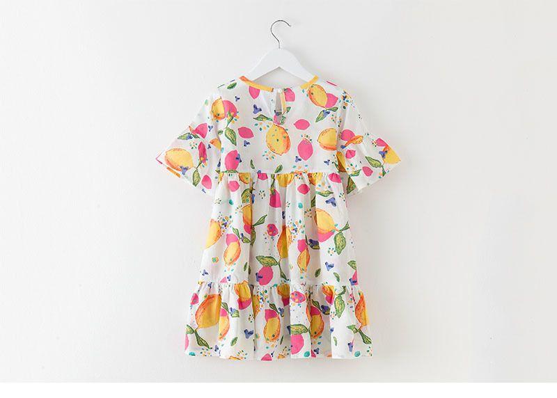 395a1bbd46699 Imprimé robe filles bébé printemps été 2018 blanc bleu petite fille robes  vêtements avec manches coton
