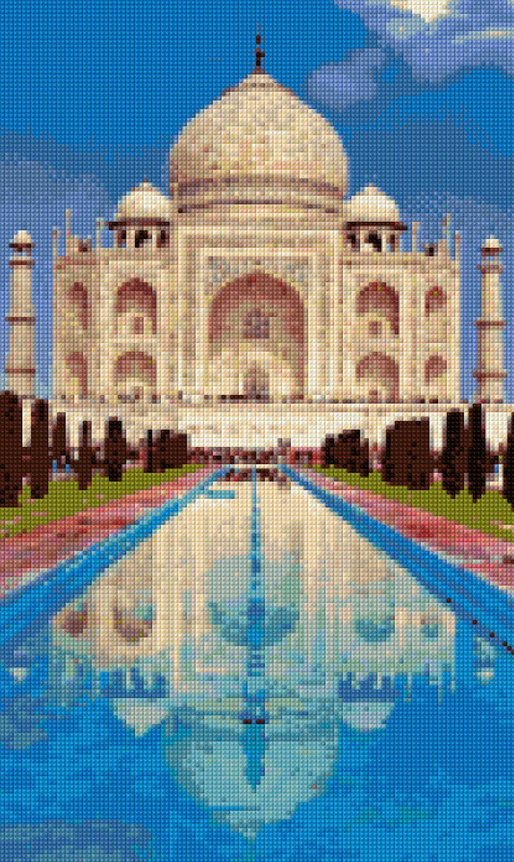 Taj Mahal India Landscape Cross Stitch Pattern Pdf Instant Download By Penumbracharts On Etsy