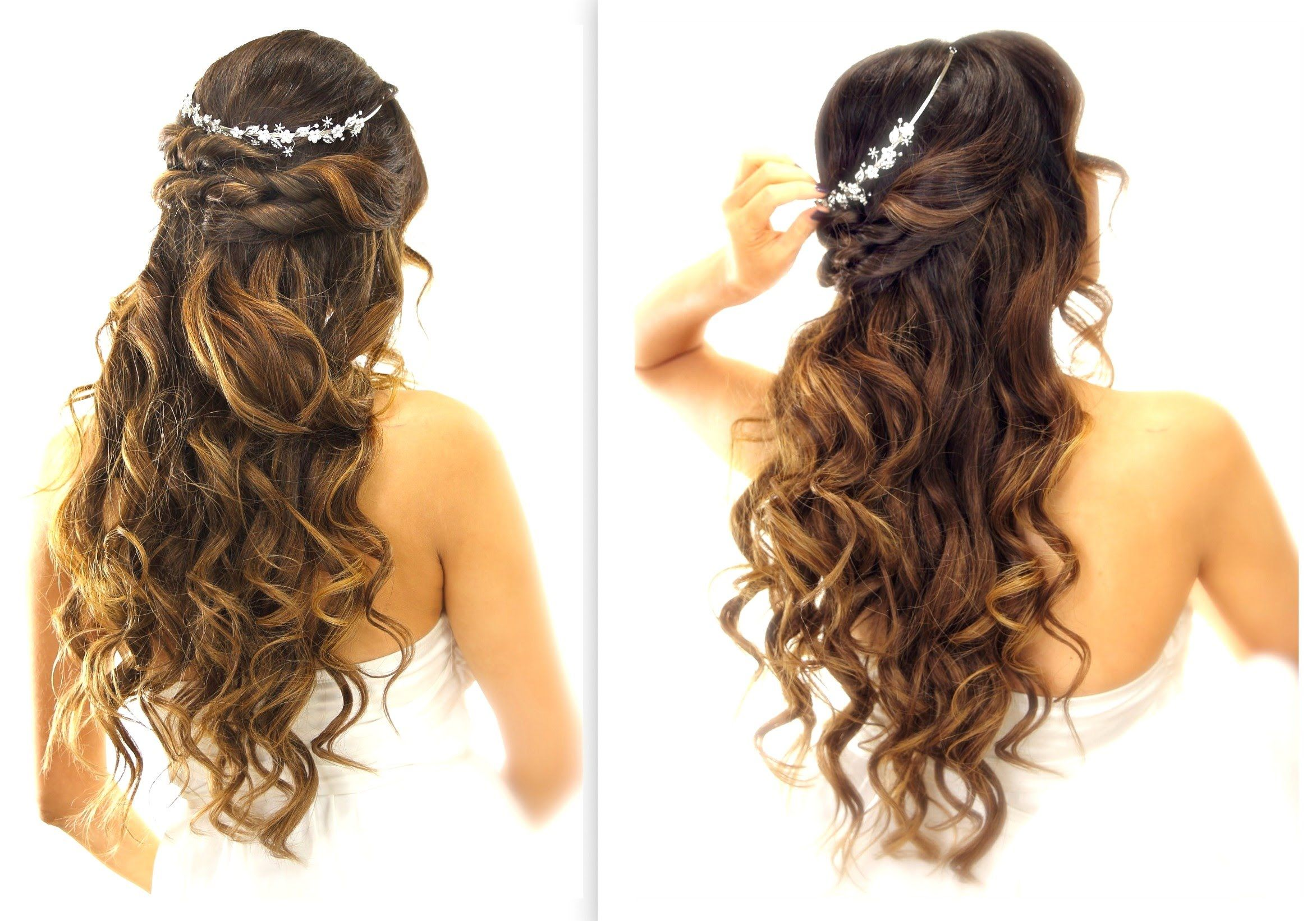 easy wedding halfupdo hairstyle with curls bridal hairstyles