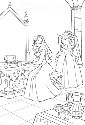 Aurora S Wedding Day Coloring Page Disney Coloring Pages Disney Princess Coloring Pages Princess Coloring Pages