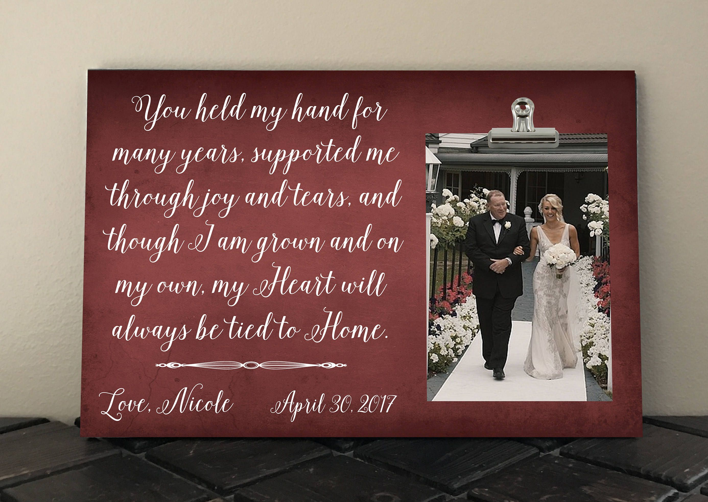 Wedding Gift For Parents Free Design Proof You Held My Hand For