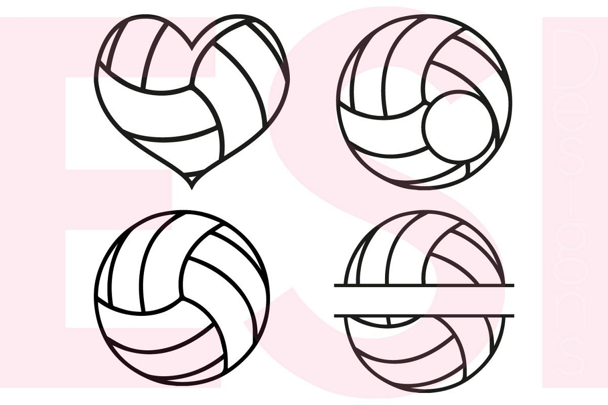 Volleyball Designs And Monograms Set 2921 Svgs Design Bundles Volleyball Designs Volleyball Tshirt Designs Volleyball Shirt Designs