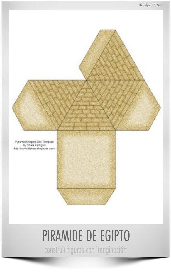 Plantilla Para Imprimir Piramides De Egipto Egipto Decoracion Maquetas De Egipto