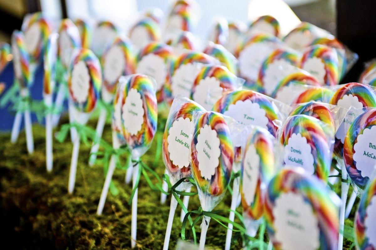 Lollipop Escort Cards Laurens Wizard Of Oz Themed Wedding Wedding