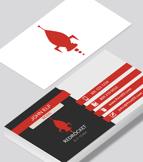 Modern contemporary business card design red rocket business card modern contemporary business card design red rocket business card colourmoves
