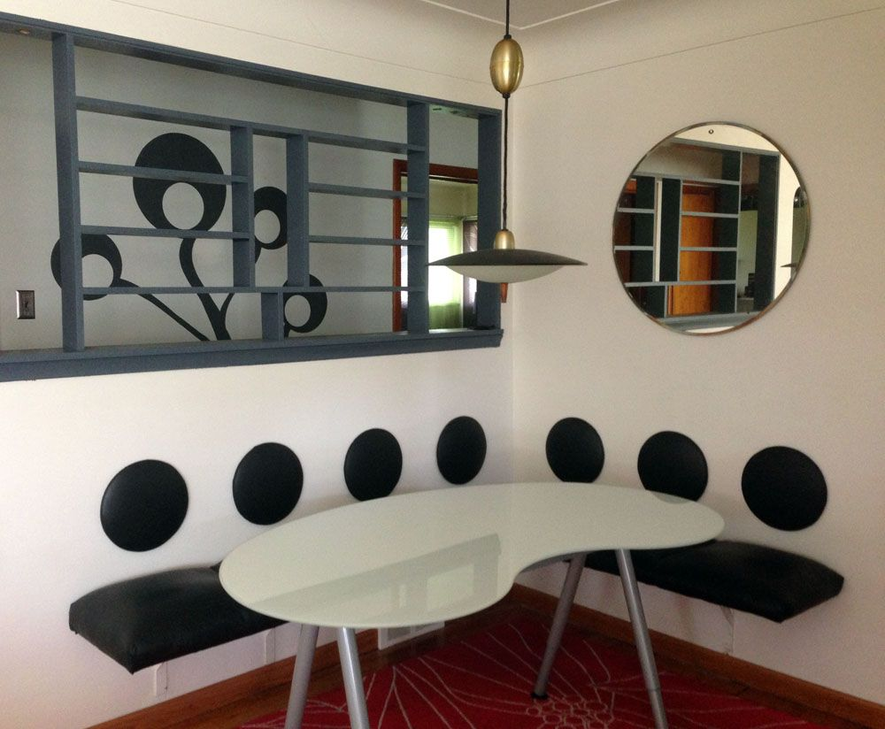 Space saving dining furniture - Dining L With Wall Mounted Space Saving Furniture