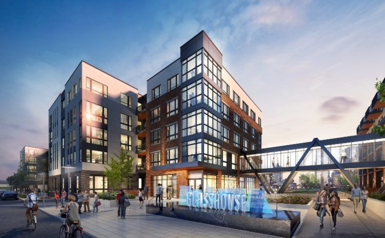 70 Million Glasshouse At Station Square Will Feature 320 Apartments Many Transit Options River Views Glass House Downtown Apartment Pittsburgh Apartments