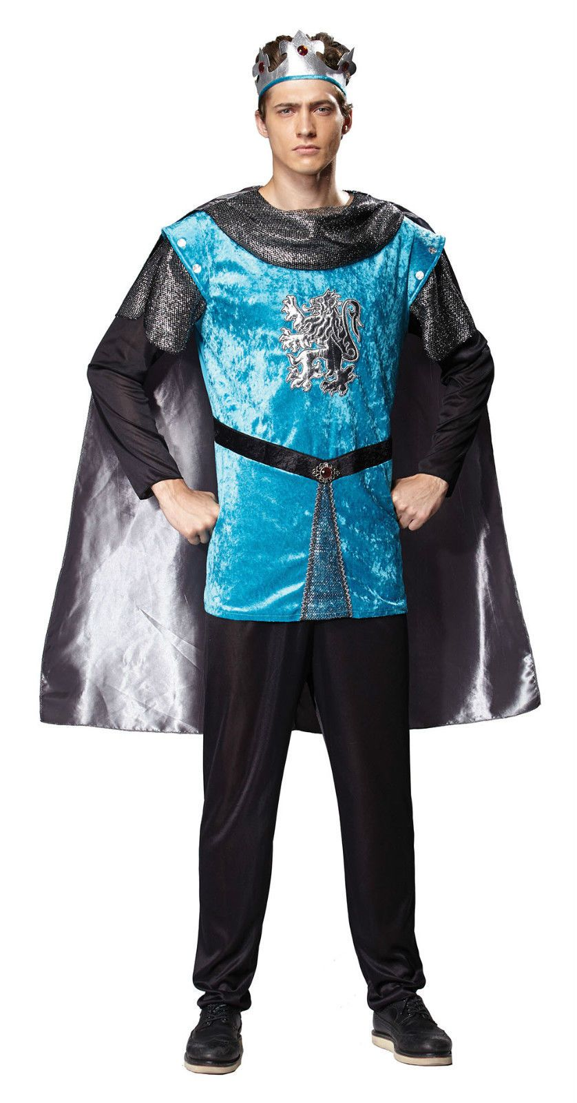 Adult Mens Medieval & Gothic Royal Knight Costume Fancy