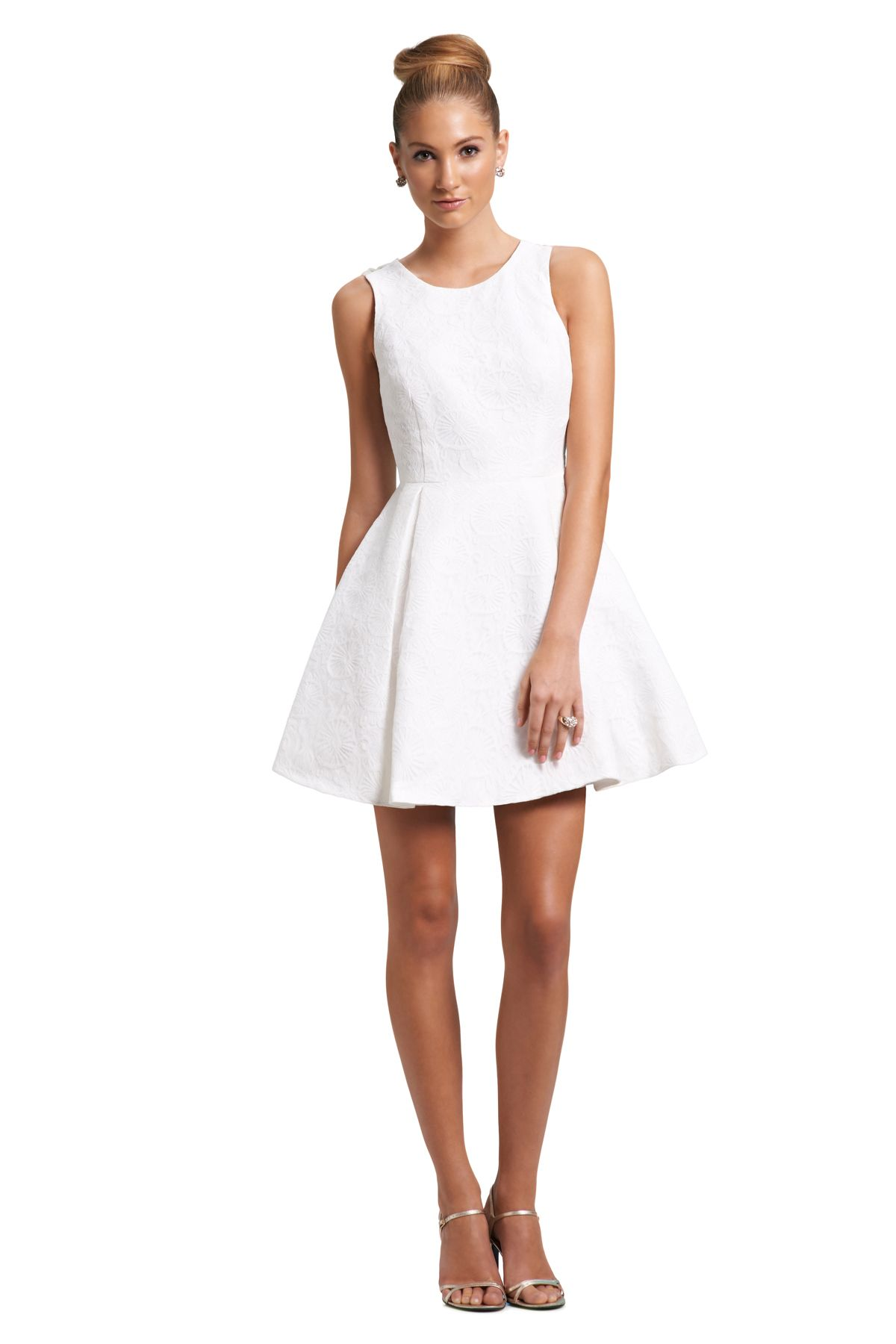 this little white dress from weddington way is elegant and feminine perfect for your
