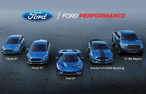 Ford Performance Lineup Including Ford Gt Shelby Gtr Mustang F  Raptor Focus St And Fiesta St