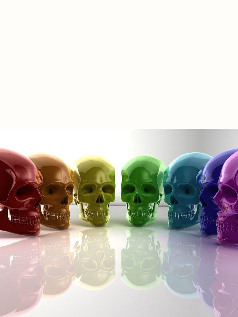 rainbow skulls skull wallpaper crystal skull skull