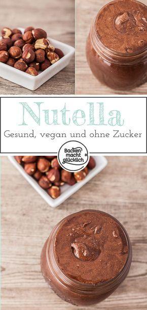 Gesundes Nutella selbermachen | Backen macht glücklich #nutellakekse