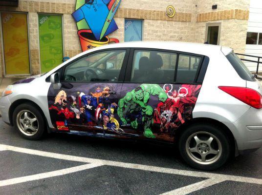 Marvel Comics Themed Custom Vinyl vehicle Wrap by Big Star