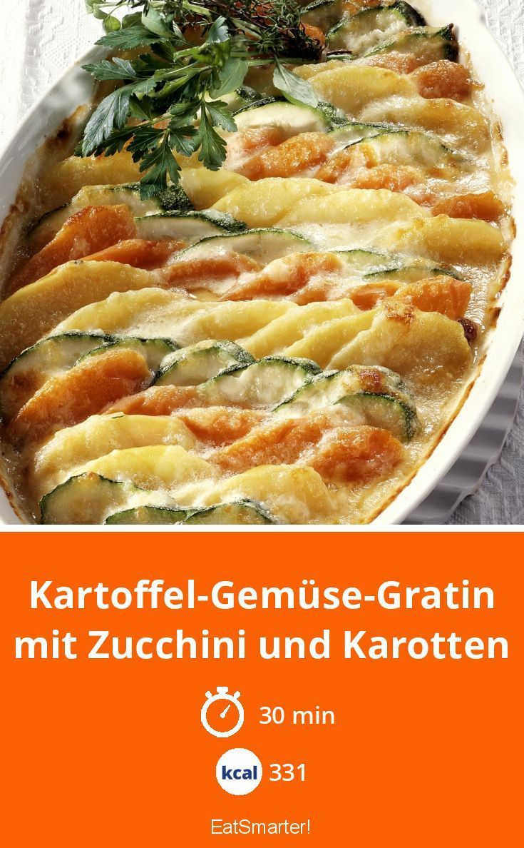 Photo of Potato and vegetable gratin with zucchini and carrots