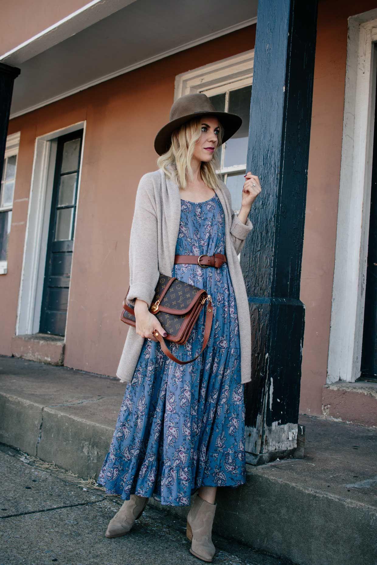 summer dress with cardigan