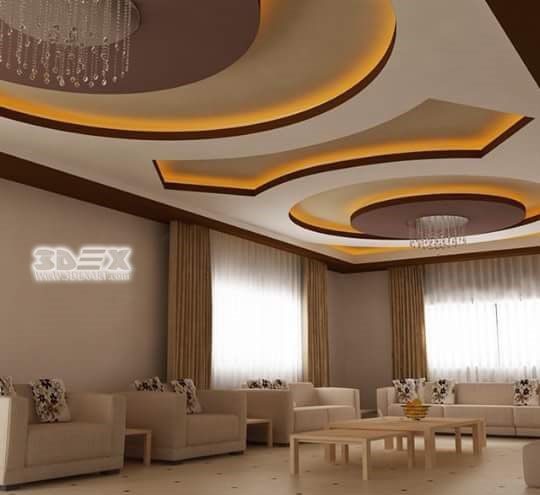 Living Hall Plaster Ceiling Design | Taraba Home Review