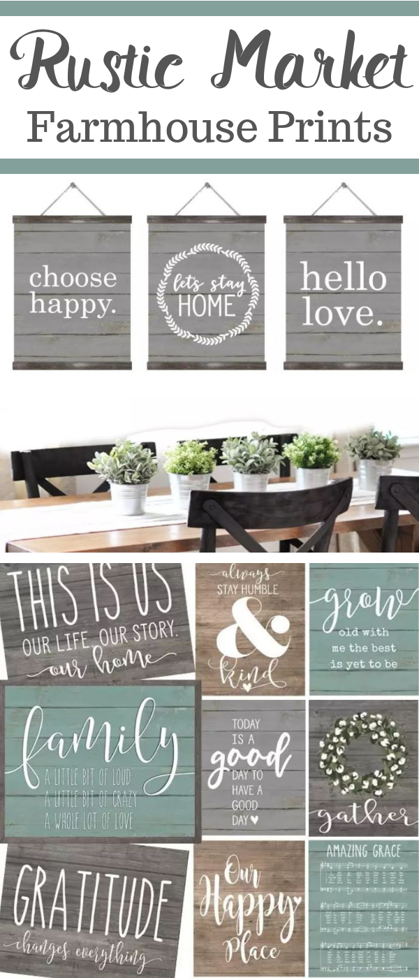 Love These Rustic Market Farmhouse Prints That Are Great For Rustic Farmhouse Decor Or In 2020 Rustic Industrial Decor Diy Rustic Wall Decor Diy Rustic Farmhouse Decor