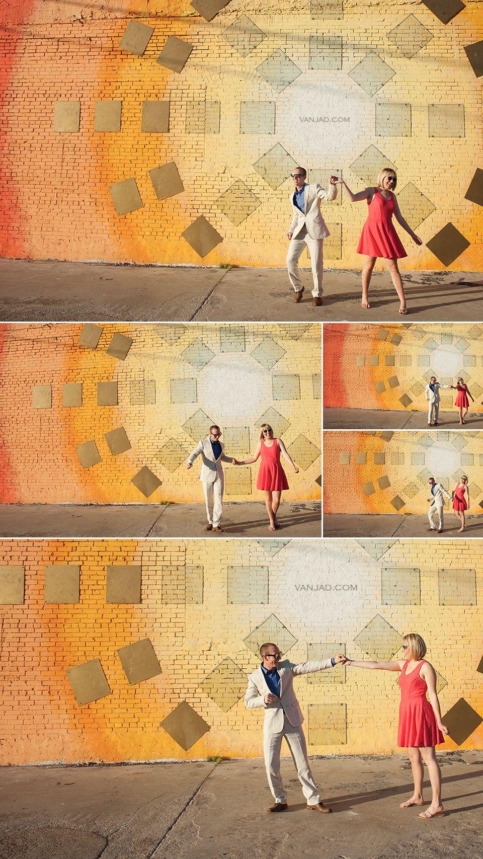 Dallas Deep Ellum Engagement Photo Session - stylish couple dancing ...