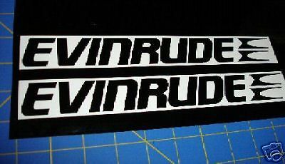 Evinrude Outboards Fishing Boats Sticker Black Race Boat Decal - Lund boat decals easy removalgreat lakes fishing boats for sale