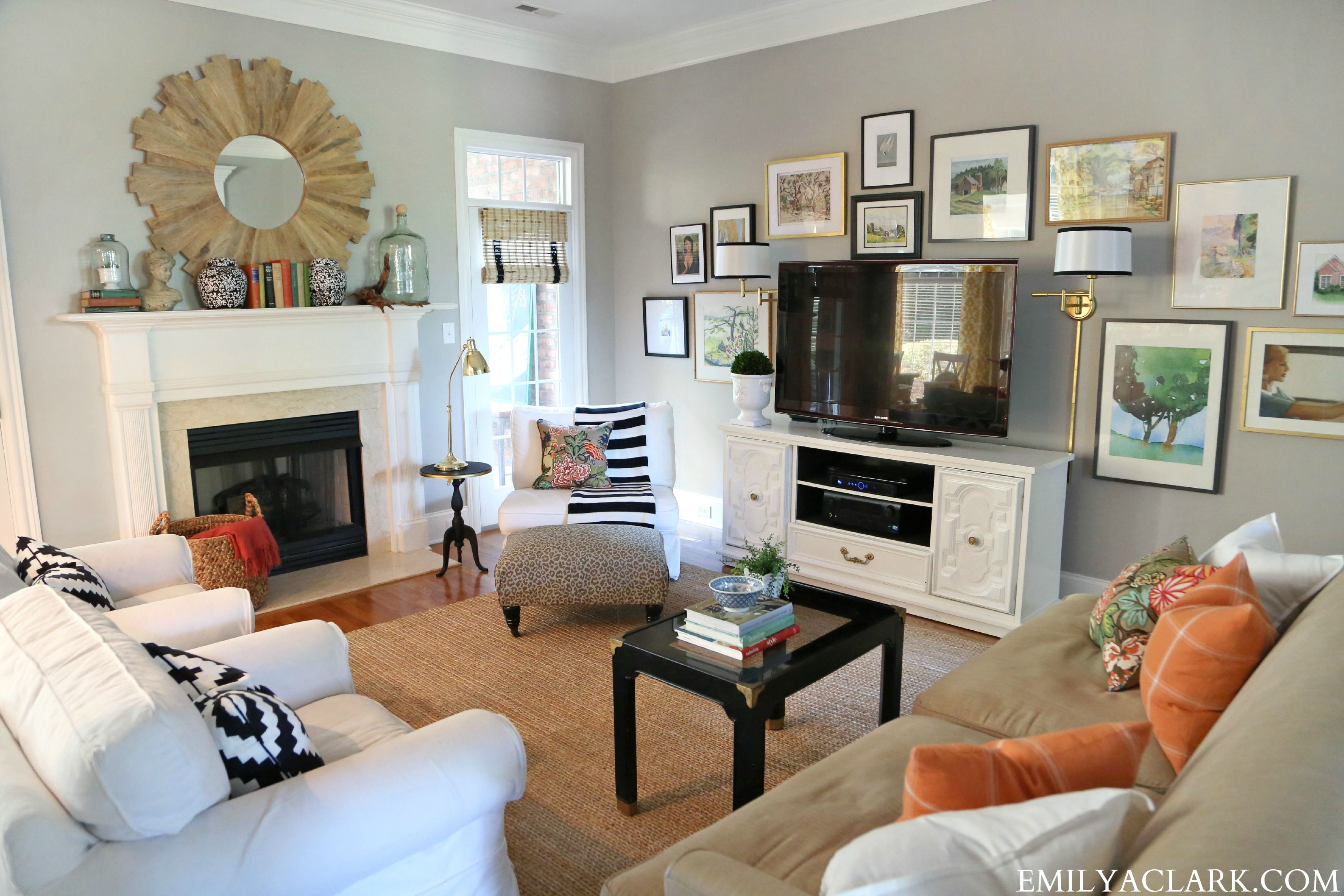 Our Home In Bh G Bargain Decorating Emily A Clark Living Room Furniture Layout Narrow Living Room Living Room Furniture Arrangement