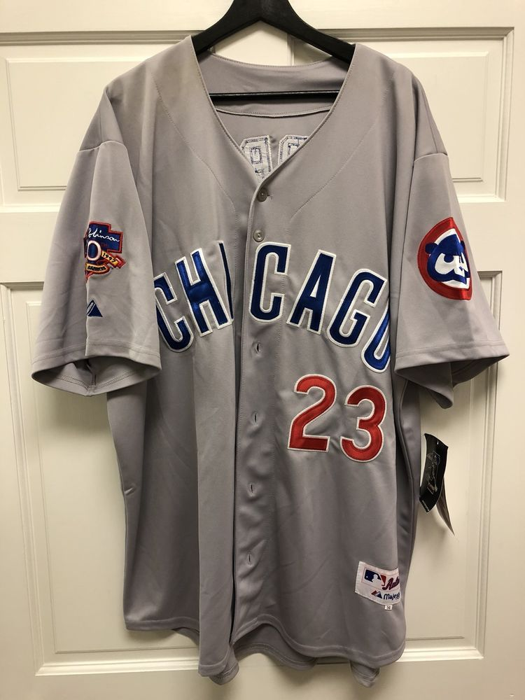 hot sale online ceb23 685ca Authentic MLB Chicago Cubs Jersey Sandberg #23 Free Shipping ...
