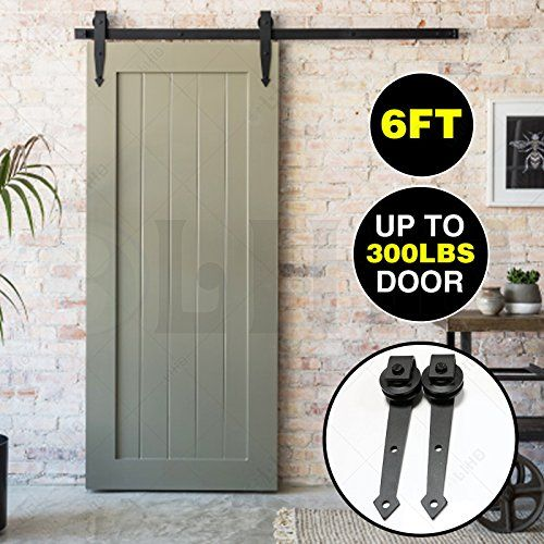 6 Ft Modern Antique Style Sliding Barn Door Track Rail Sliding Track Hardware Kit Country Style Sliding Barn Door Track Barn Door Hardware Interior Barn Doors