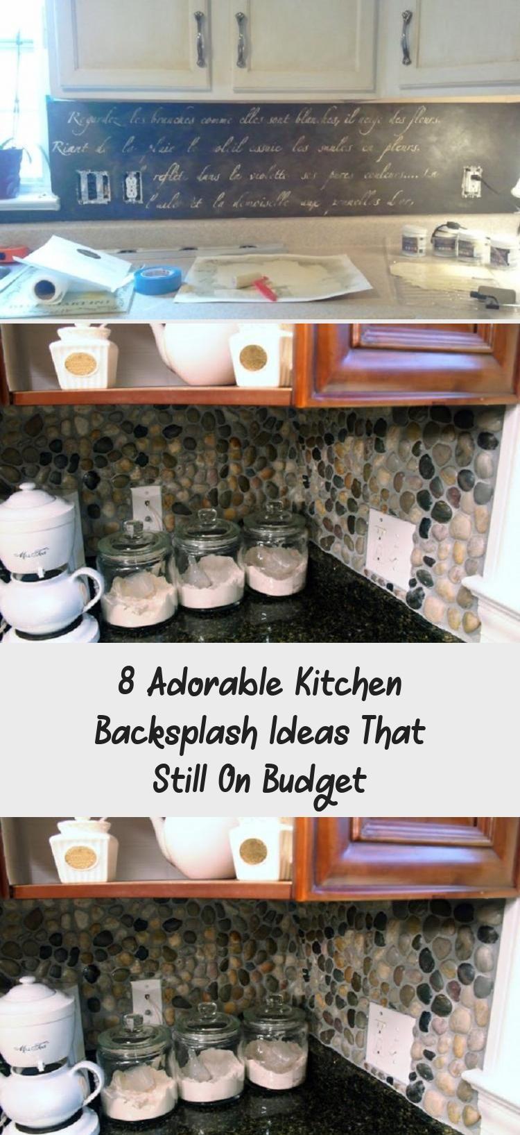 8 Adorable Kitchen Backsplash Ideas That Still On Budget # #backsplah #budget #c… Kitchen