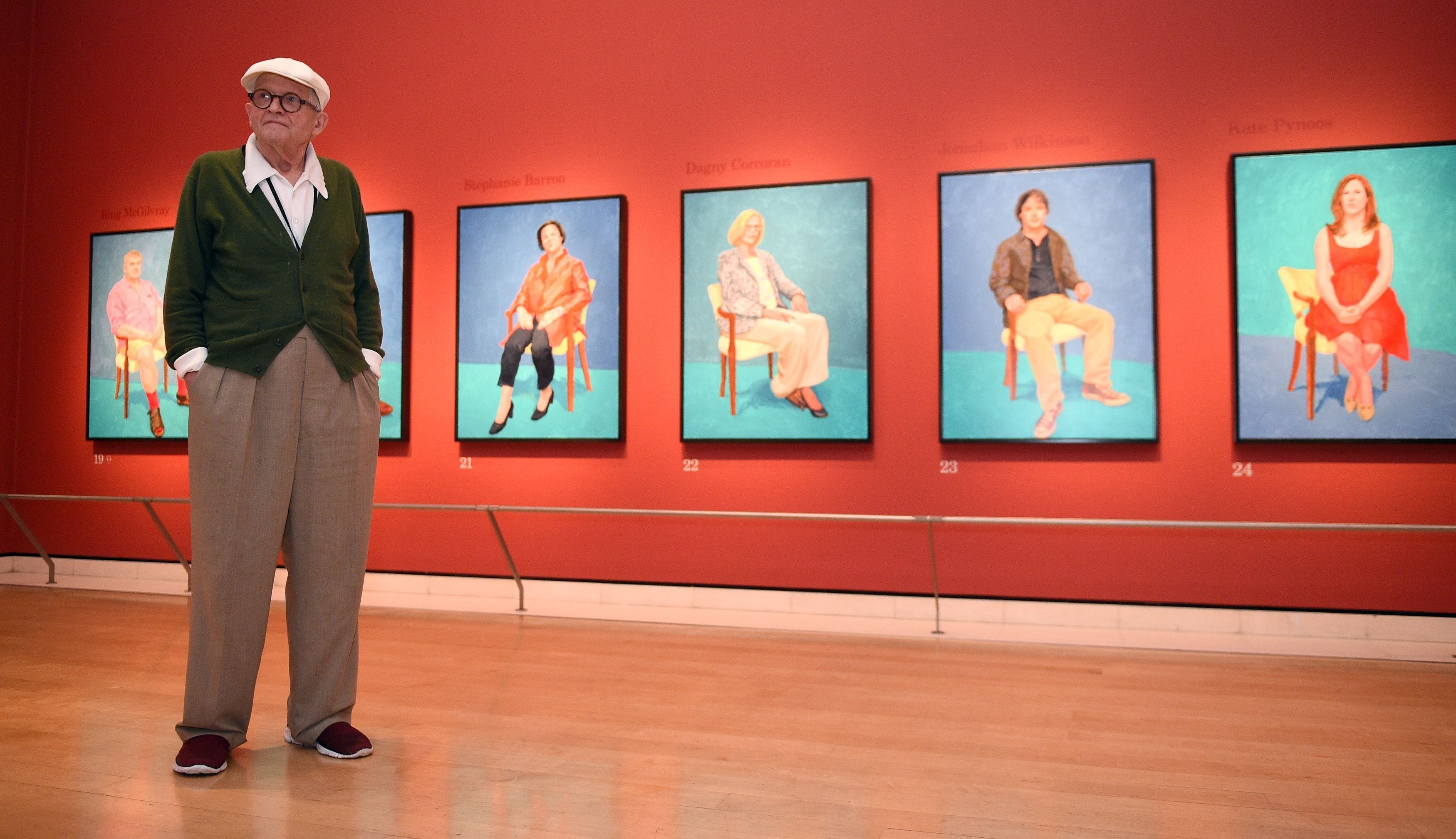 london england artist david hockney in the sackler wing at the rh pinterest ca