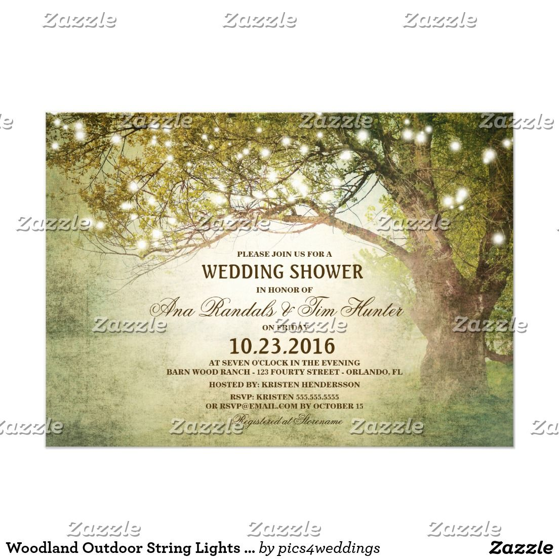 Barn wedding with fairy lights  Woodland Outdoor String Lights Couples Shower  Country Wedding