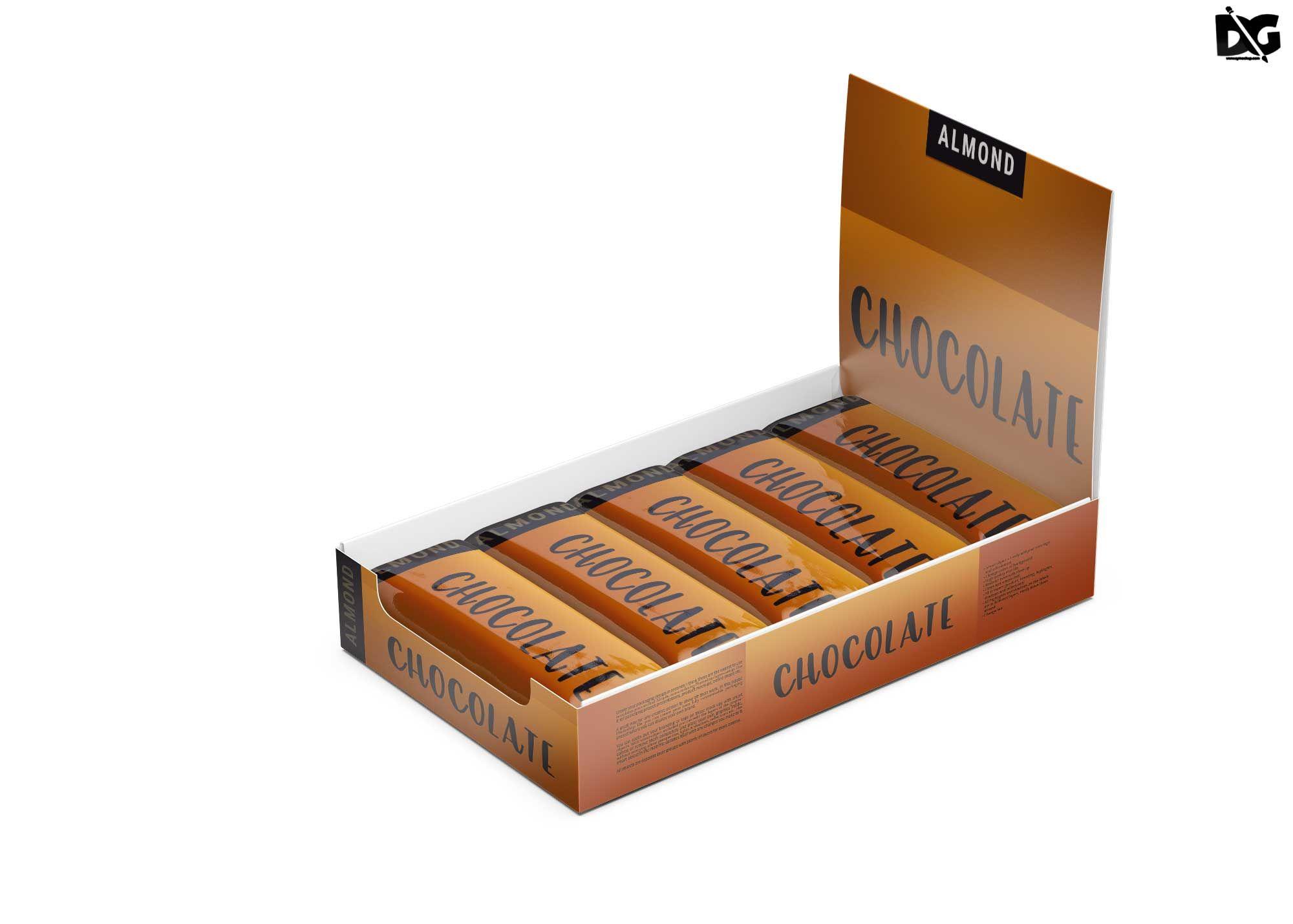 Free Chocolate Bars Box Mockup Box Mockup Mockup Mockup Free Psd