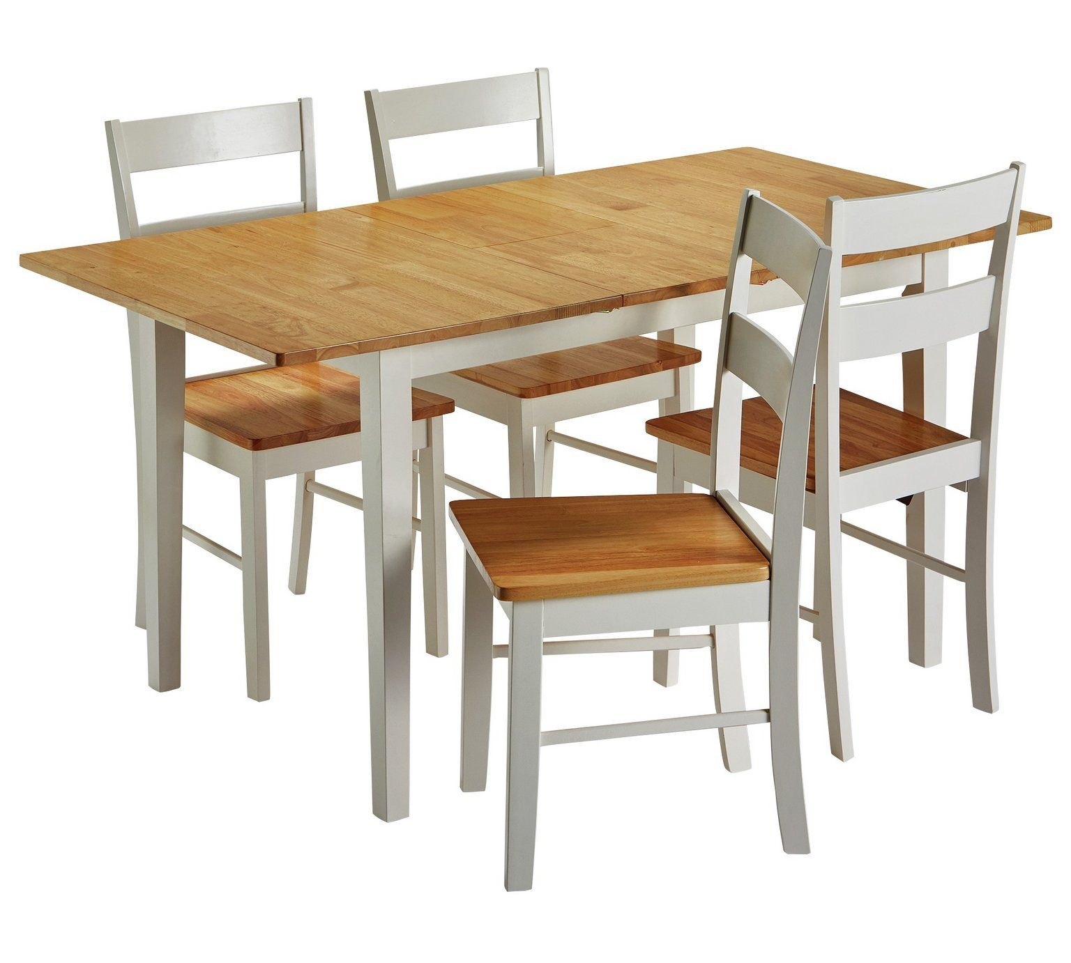 Argos Small White Table And Chairs: Home Chicago Extendable Solid Wood Table & 4 Chairs