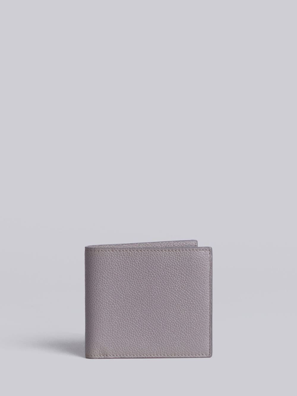 632165e57d0e THOM BROWNE THOM BROWNE BILLFOLD WALLET IN GREY PEBBLE GRAIN.  thombrowne