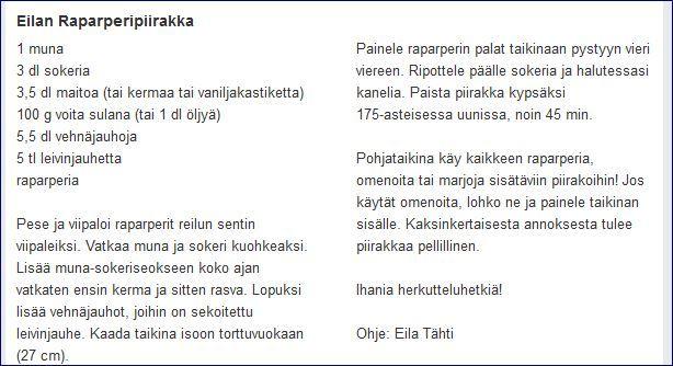 Eilan rapapreripiirakka ilmestynyt eSUROKISSAssa 2/2014 (5.6.2014)