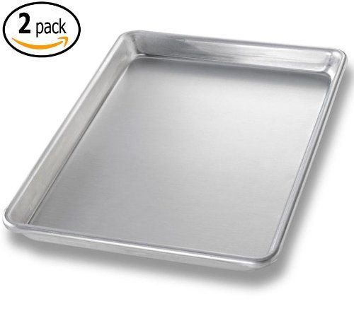 Commercial Aluminum Baking Sheet Pans And 2 Dough Scrapers 9 5 X 13 Inch Quarter Size Set Of 2 You Can Find More De Dough Scraper Baking Pans Baking Sheet