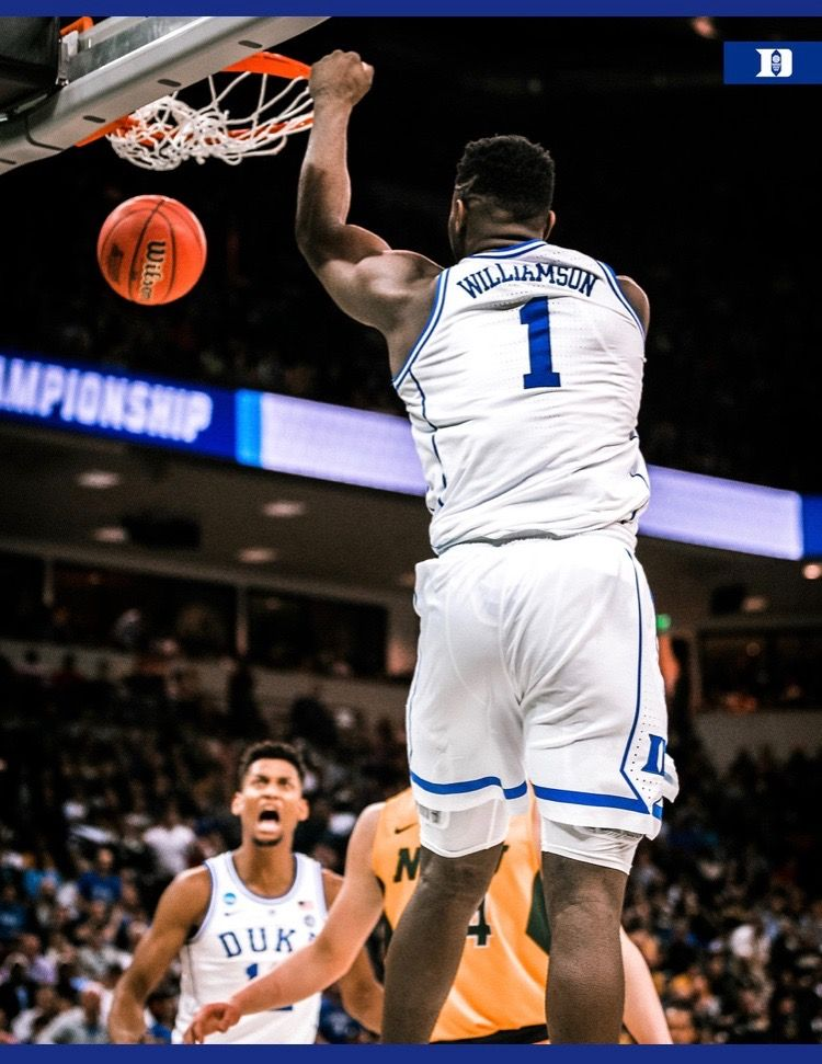 Zion Williamson (With images) Ncaa basketball, Duke