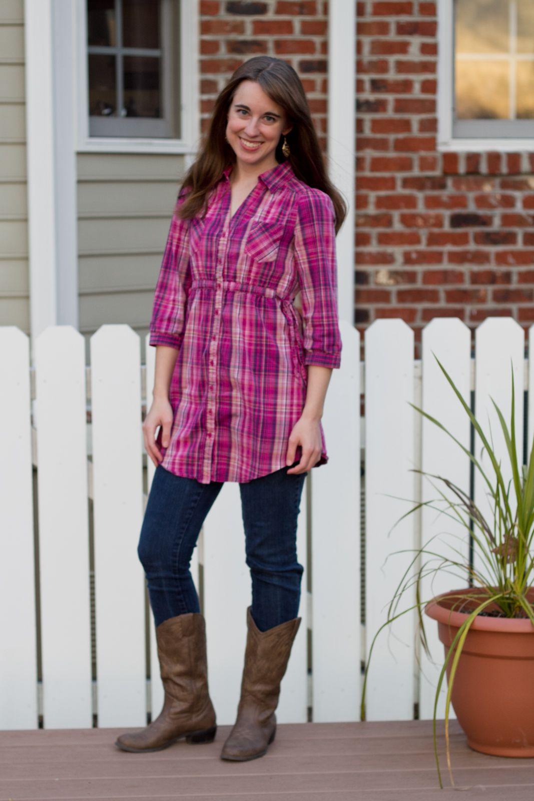 Pink plaid shirt dress  My Closet  Pinterest  Pink Plaid ...