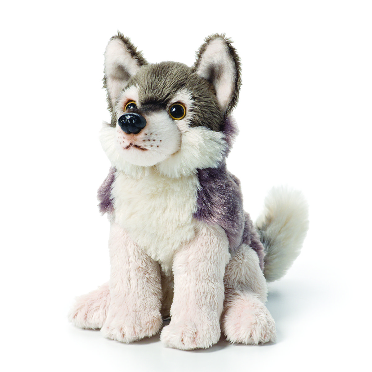 Wolf Beanie Plush Toy (With images) Wolf plush, Plush