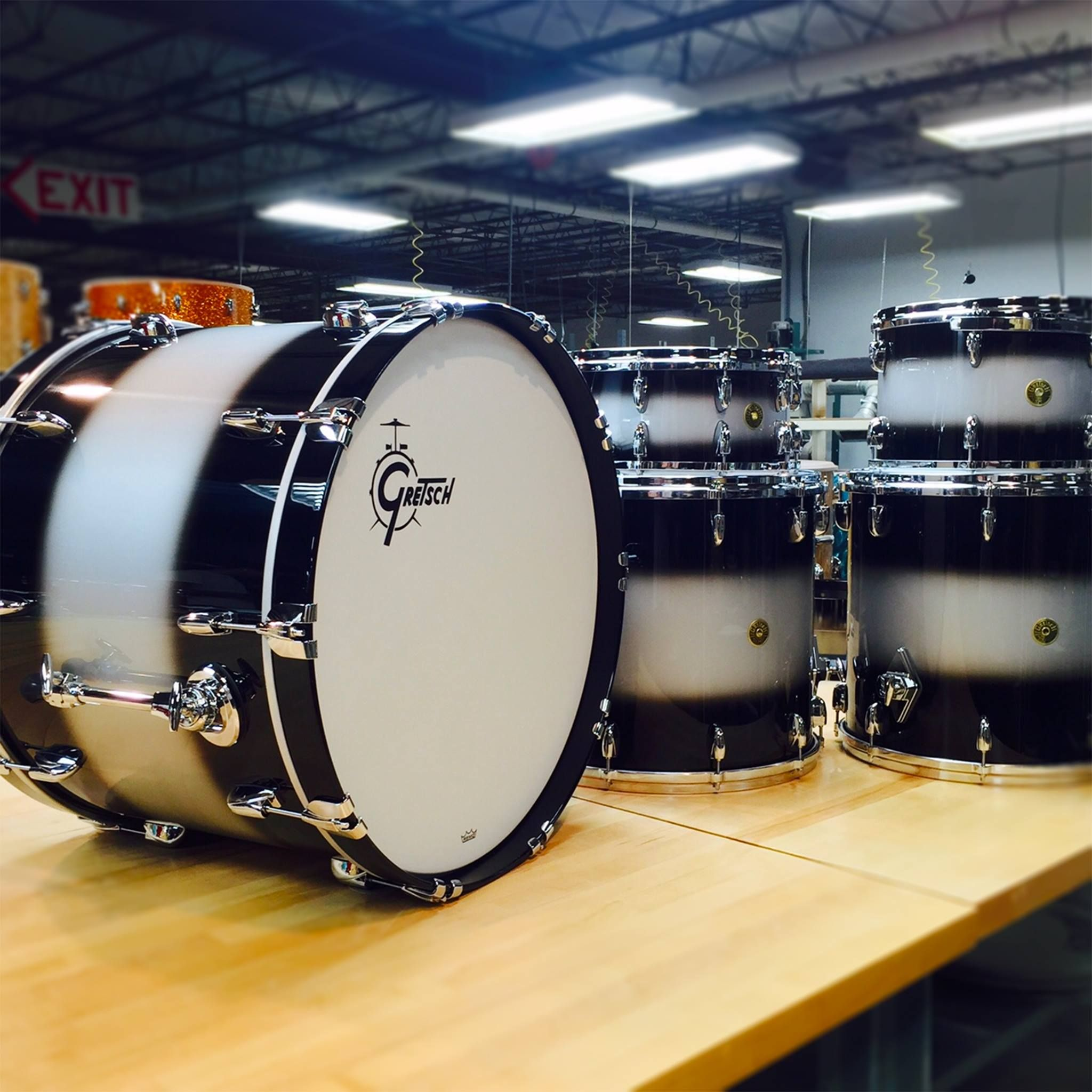 gretsch usa custom black silver duco muse in 2019 gretsch drums drums snare drum. Black Bedroom Furniture Sets. Home Design Ideas