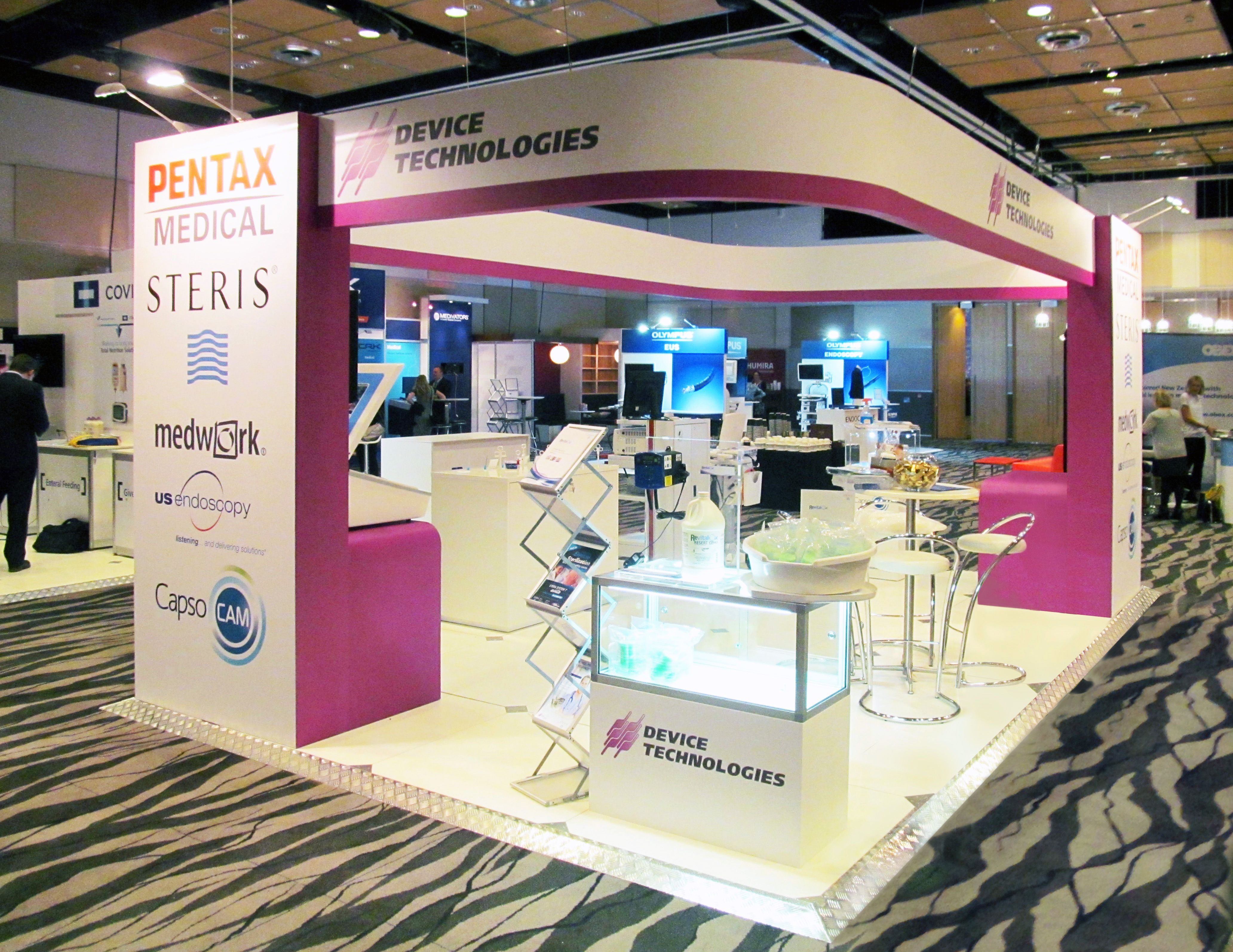 Exhibition Stands Nz : Device technologies exhibition stand at gastro designed and