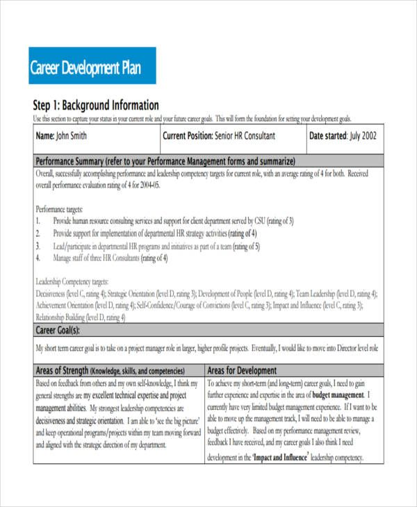 Career Development Plan Check more at