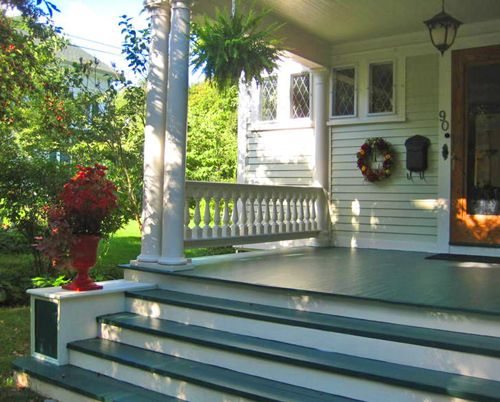 HOME Front porch spindles railing balusters wood rail