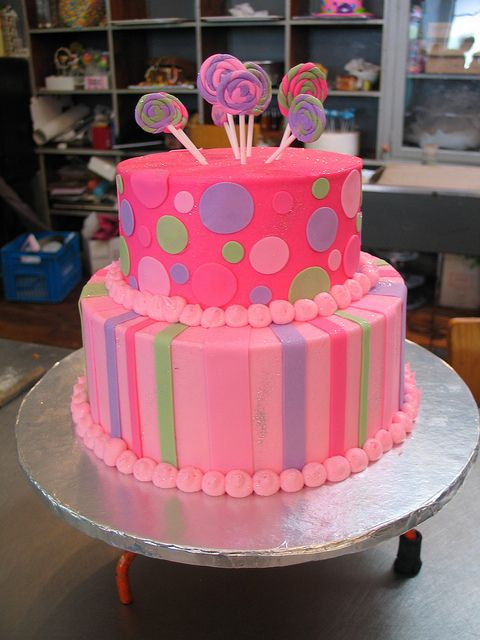 2 Tier Wicked Chocolate Cake Iced In Soft Pink Hot Pink Butter