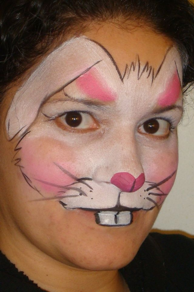 Rabbit Make up Face Painting from Cute Rabbits to Gory Zombies
