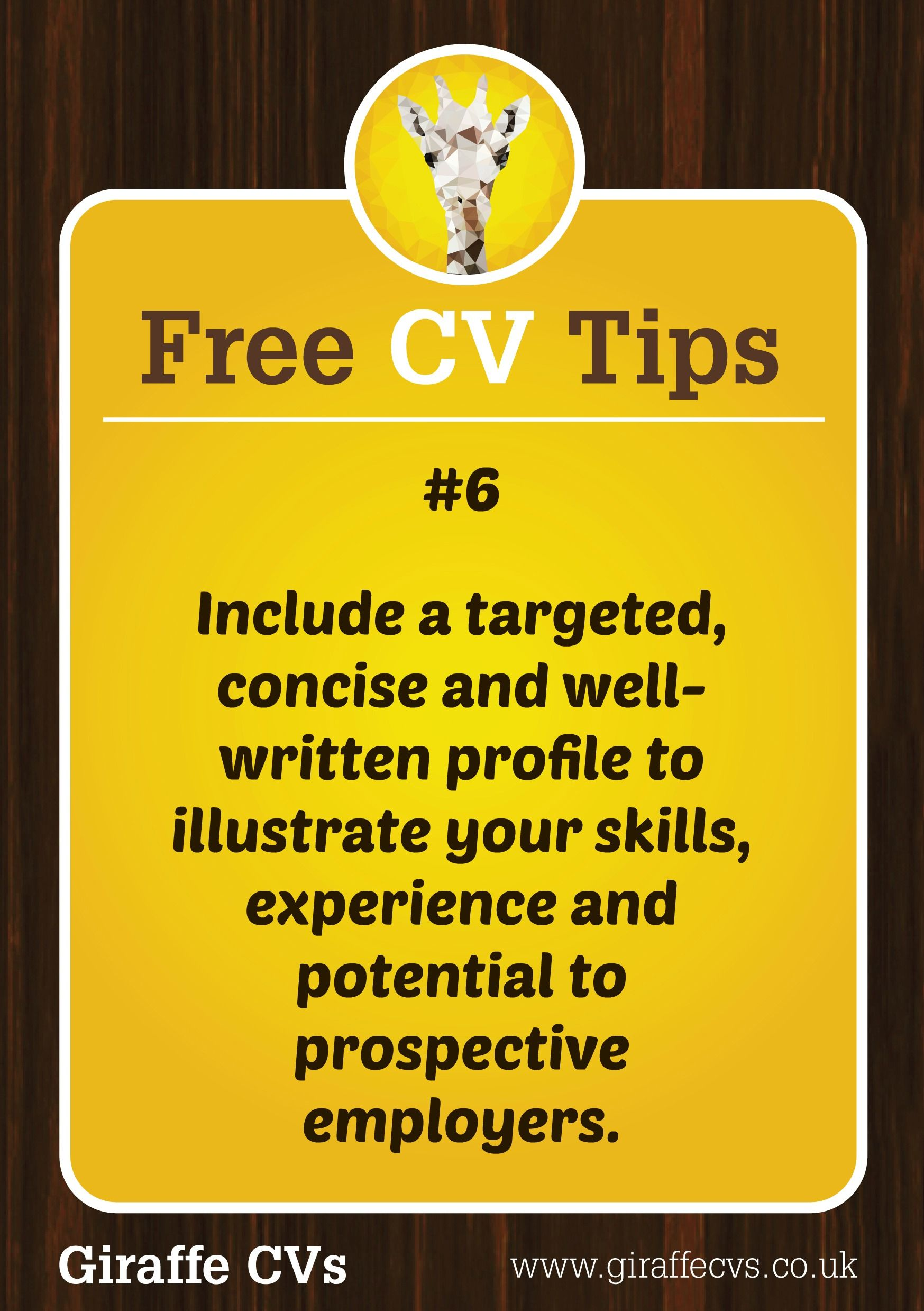 Free cv tips 6 include a targeted concise and well