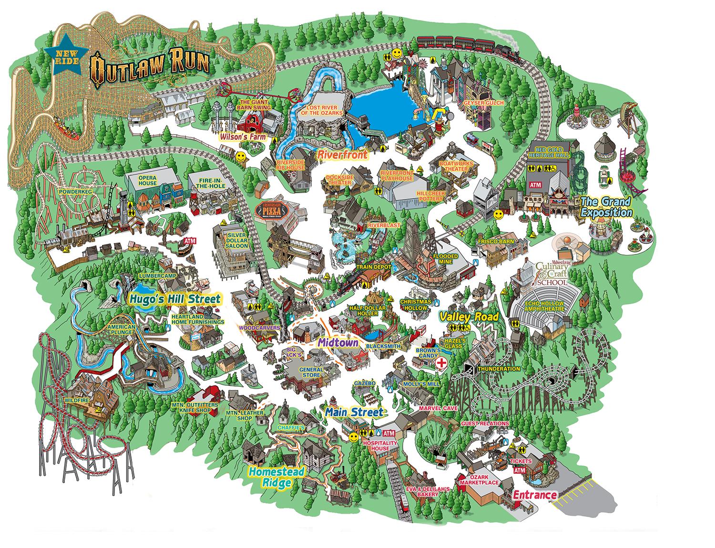 RevisedParkMapxpng Pixels Crafts Pinterest - City map of branson mo