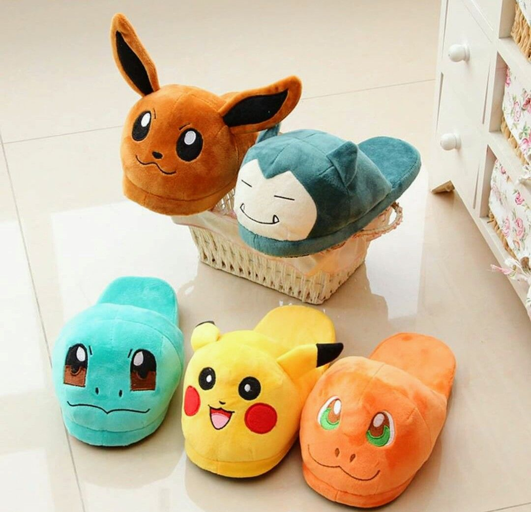 pokemon pikachu slipper anime Cotton